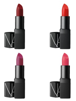 Lipstick, the Guy Bourdin Holiday Collection, Nars, €26 each. Limited edition available from November 1