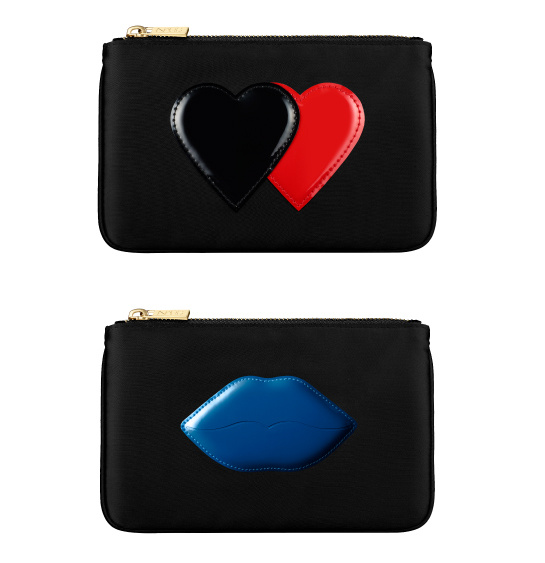 """Hearts case from Voyeur set and blue lips case from the """"pomoscuous"""" set, Guy Bourdin Holiday Collection, Nars, €39 each. Limited edition available from November 1"""