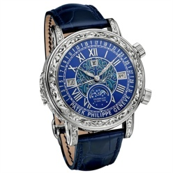 Patek Philippe Ref. 6002 Sky Moon Tourbillon - Mechanical movement with tourbillon, minute repeater and perpetual calendar