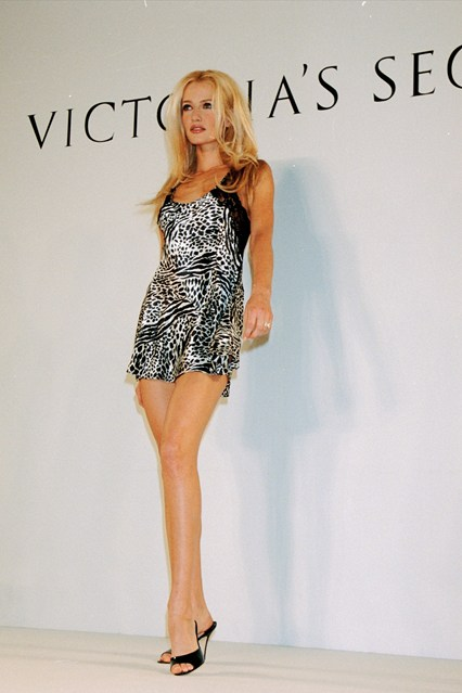 Karen Mulder on the catwalk for the 1996 Victoria's Secret show.