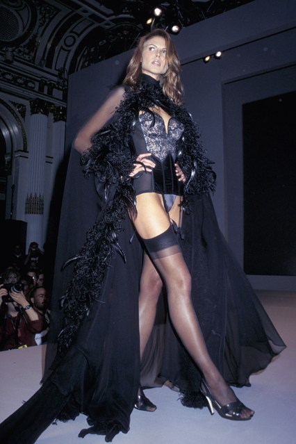 Heidi Klum on the catwalk for the 1997 Victoria's Secret show.