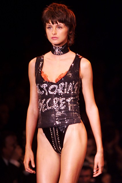 Trish Goff on the catwalk for the Victoria's Secret show in 2000.