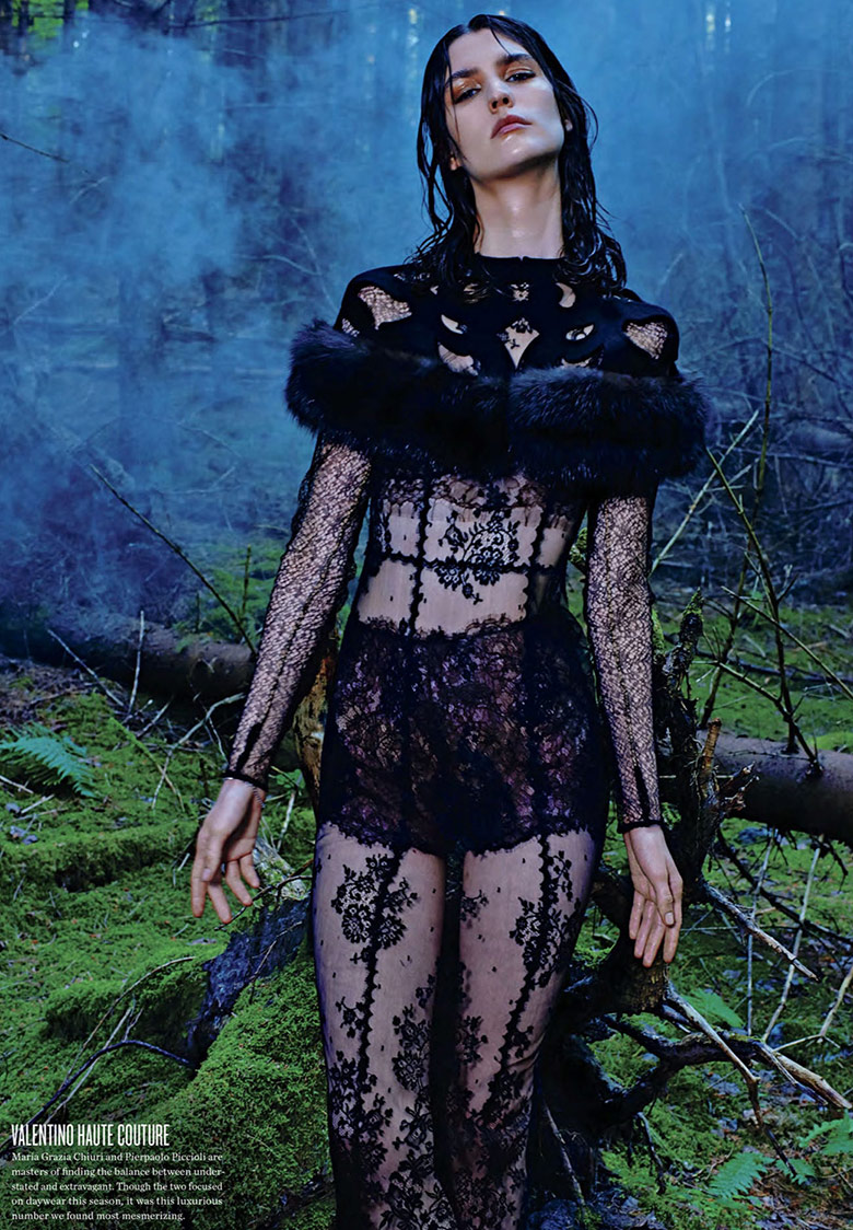 Manon Leloup for V Magazine Winter 2013.14-The Nature Of Couture