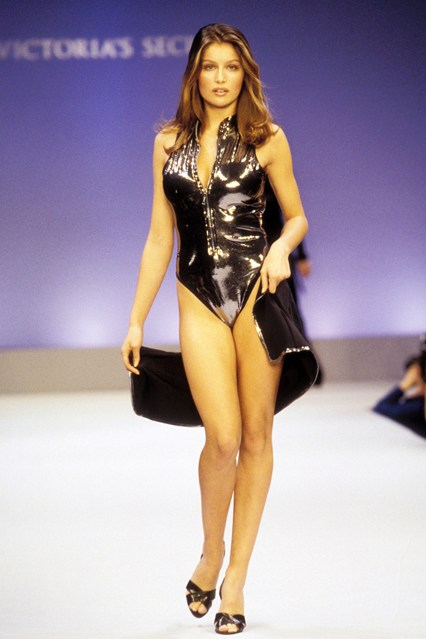 Victoria's Secret model Laetitia Casta during the 1997 catwalk show.