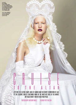 Cruise To The Altar- V Magazine Winter 2013.14 Issue