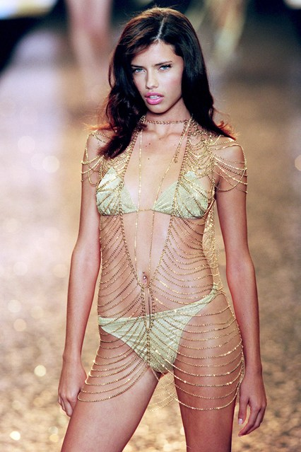 Adriana Lima - who is still an Angel today - takes to the catwalk for the second year, in 2000, aged just 19.