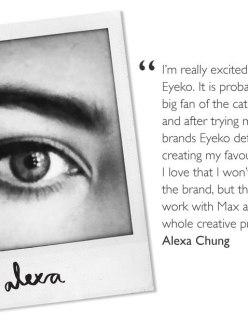 Alexa Chung-The New Face And Creative At Eyeko London