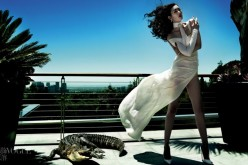 "Liu Wen in ""Savage Grace"" by Mario Testino"