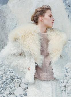 Marique Schimmel for Harper's Bazaar Uk December 2013-Snow Queen