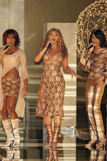 Destiny's Child perform at the Victoria's Secret show in 2001.