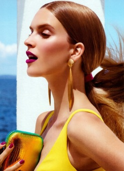 Mirte Maas for Allure December 2013-On Holiday