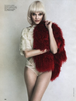 Ginta Lapina for Allure Russia December 2013