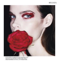 Meghan Collison for Harper's Bazaar Spain December 2013-Rosso Relativo