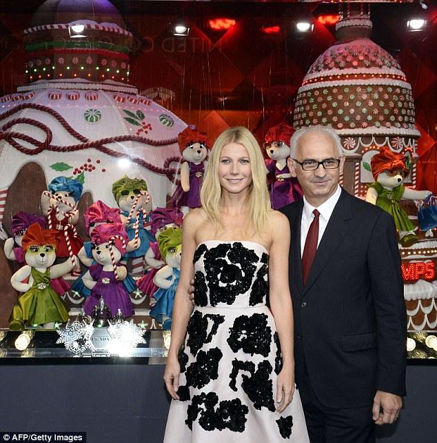 Gwynet Paltrow  with Printemps' CEO Paolo de Cesare