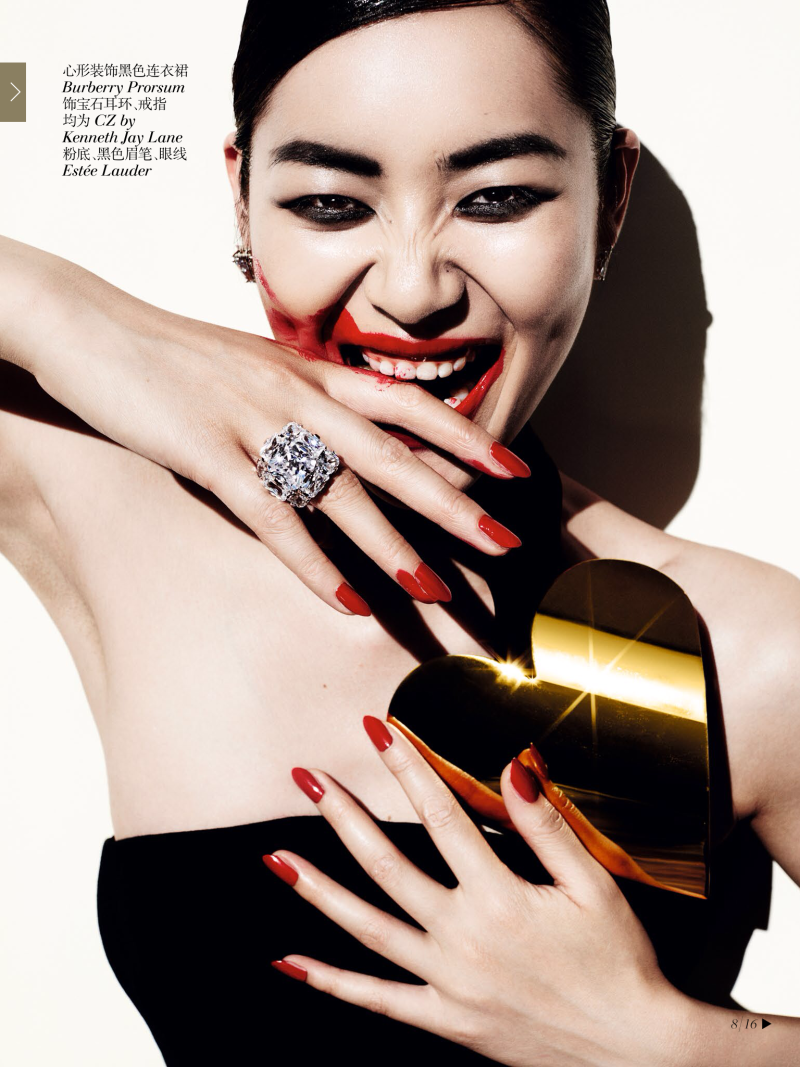 Liu Wen for Vogue China December 2013-The 100th Anniversary Issue