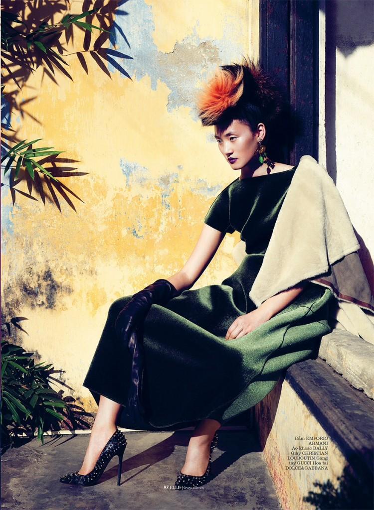 Lina Zhang by Stockton Johnson for ELLE Vietnam October 2013