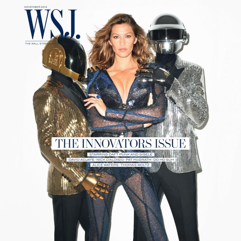 Gisele Bundchen and Datf Punk for WSJ Magazine November 2013