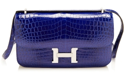 Hermes Shiny Electric Blue Nilo Crocodile Constance Elan- $42.500