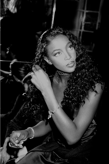 Naomi Campbell backstage at the second annual show, in 1996.