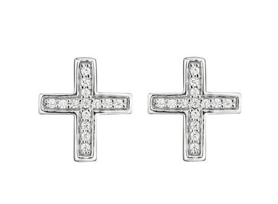Lynn Ban  Cross earrings in white gold and diamonds, €443 at Barney's