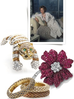 Hélène Rochas' jewelry