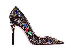 Calfskin heels with rhinestones and studs, Miu Miu, €850