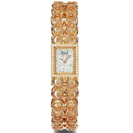 Piaget Couture - Rose gold chain bracelet, rose gold and diamond case.