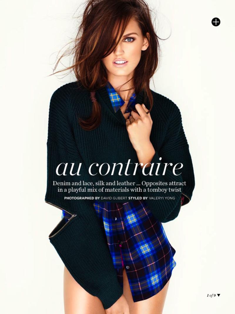 Ali Stephens for Marie Claire Australia January 2014-Au Contraire