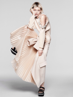 Sasha Pivovarova for Vogue US January 2014