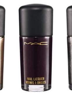 M.A.C. Divine Night Nail Lacquer, $17.50 each; maccosmetics.com