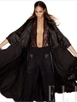 Joan Smalls by Michael Thompson for Elle US January 2014