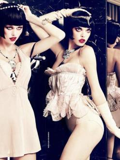 Sexy Boudoir-Glam Cabaret-Madame Figaro December 2013 Issue