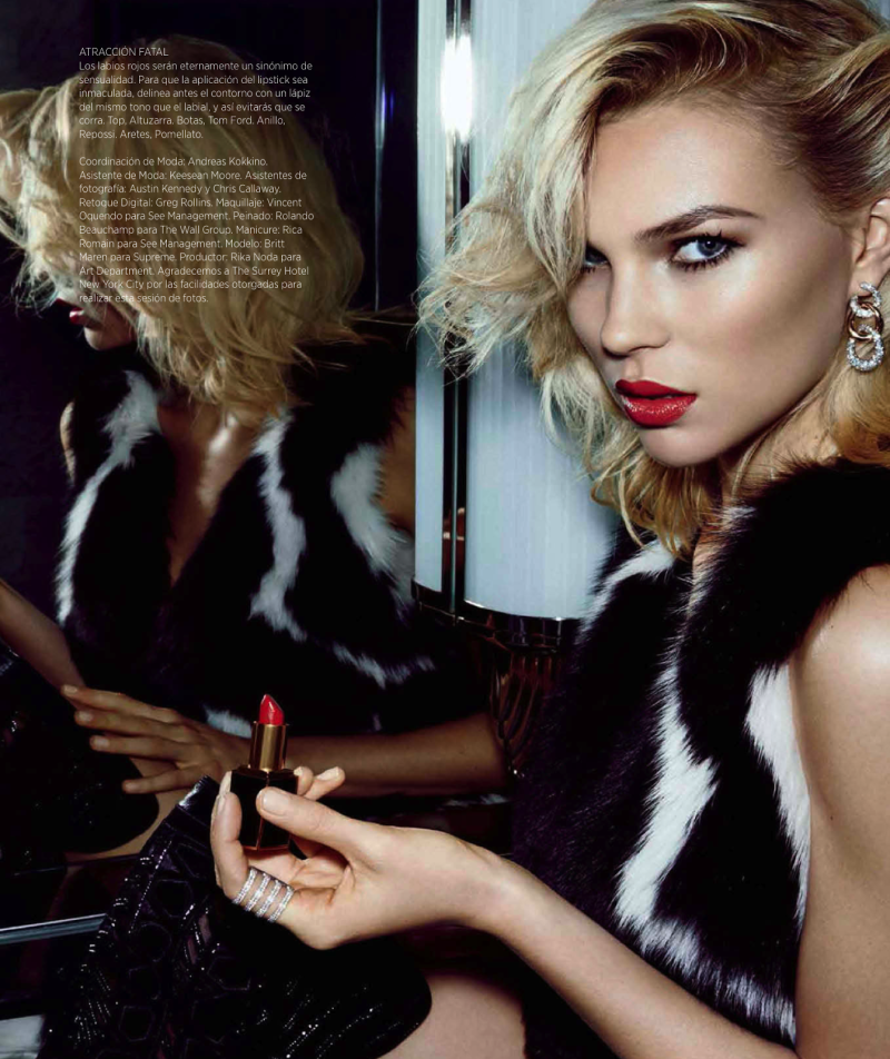 Britt Maren for Harper's Bazaar Mexico December 2013-Sheer Glamour