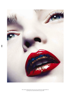 Ellen Burton for Wonderland Magazine Winter 13/14-Giorgio Armani Beauty
