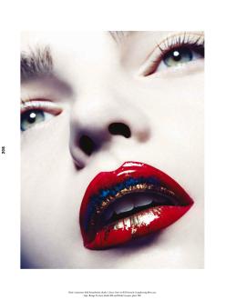 Ellen Burton for Wonderland Magazine Winter 13/14-Giorgio Armani Beauty
