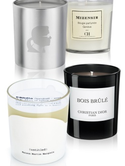 Couture Christmas Candles