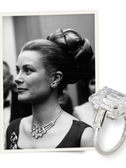 1956: Cartier designs Grace Kelly's engagement ring