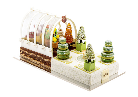 Fashionable chic christmas cakes a stairway to fashion - Le prince jardinier ...