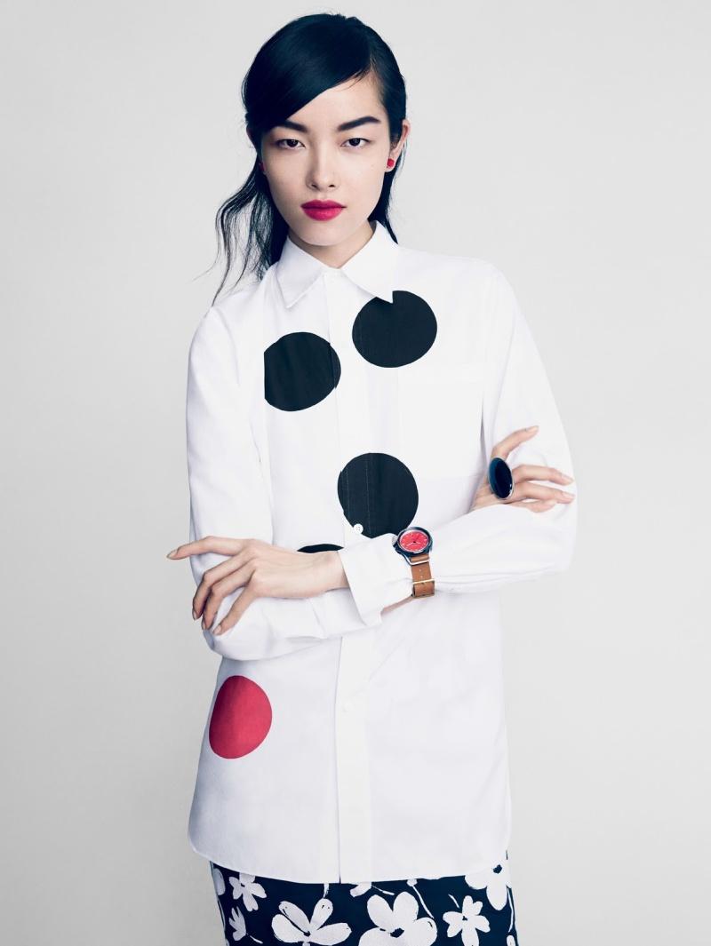 Sasha Pivovarova, Fei Fei Sun And Anais Mali by Patrick Demarchelier for Vogue February 2014
