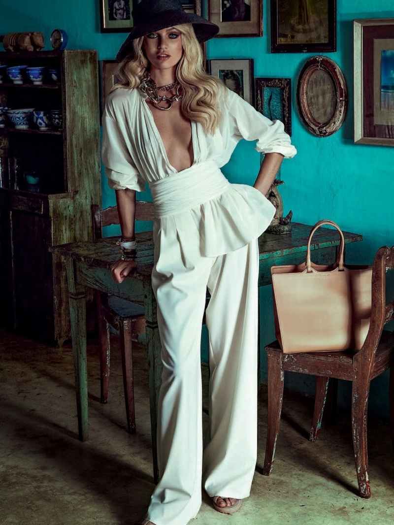 Candice Swanepoel for Vogue Brasil January 2014