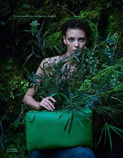 Diana Moldovan & Yumi Lambert for Hermes Spring/Summer 2014 Campaing