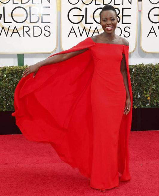 Lupita Nyong'o at Golden Globe Awards