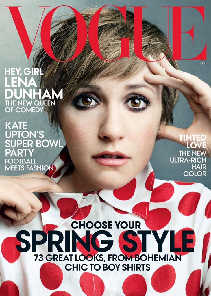 Actress Lena Dunham for Vogue US February 2014