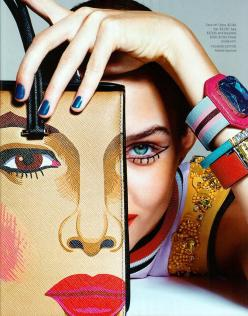 Josephine Skriver for Harper's Bazaar February 2014 - Art Inspired