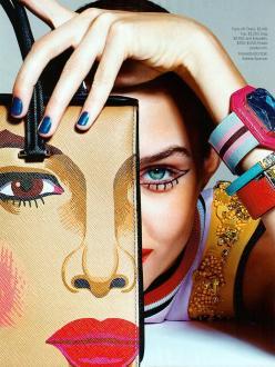 Josephine Skriver for Harper's Bazaar February 2014 - Art Inspired