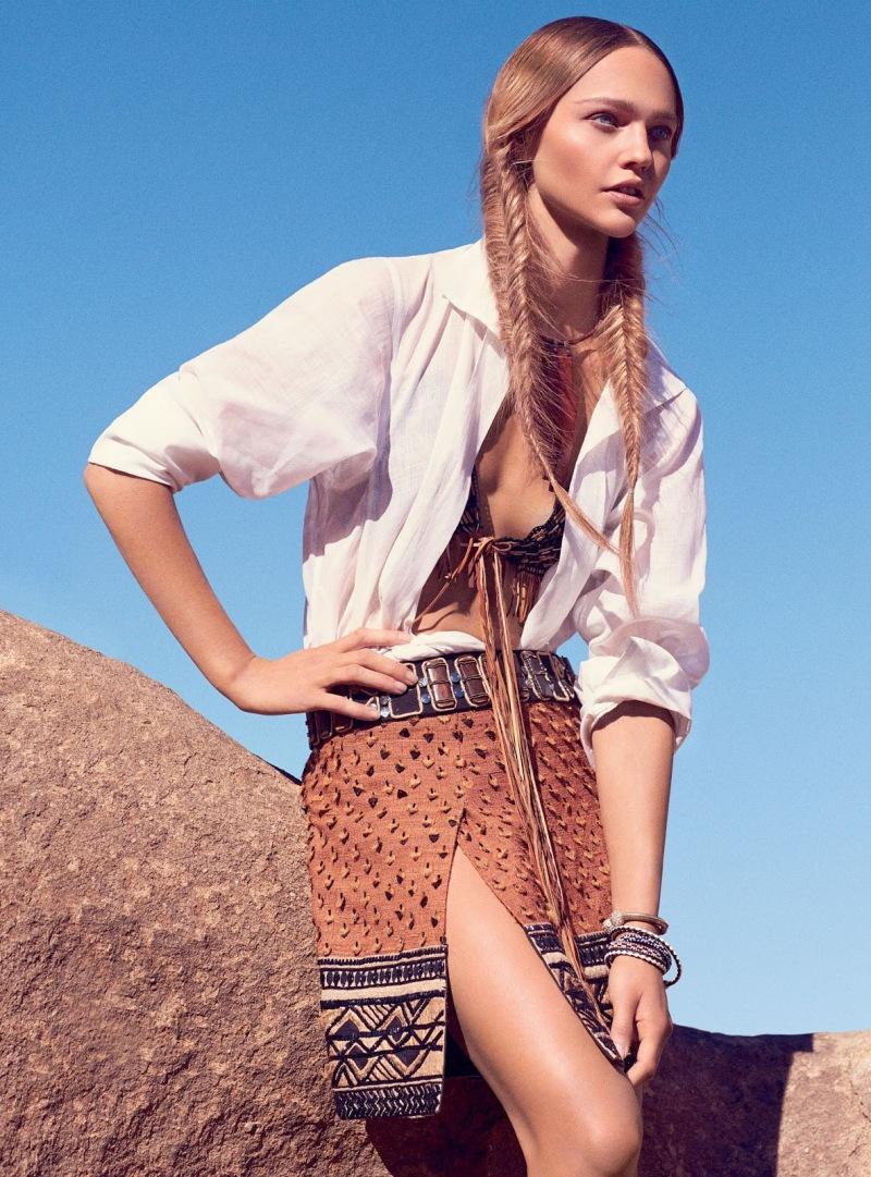 Sasha Pivovarova for Vogue February 2014 - Portrait Of The Artist