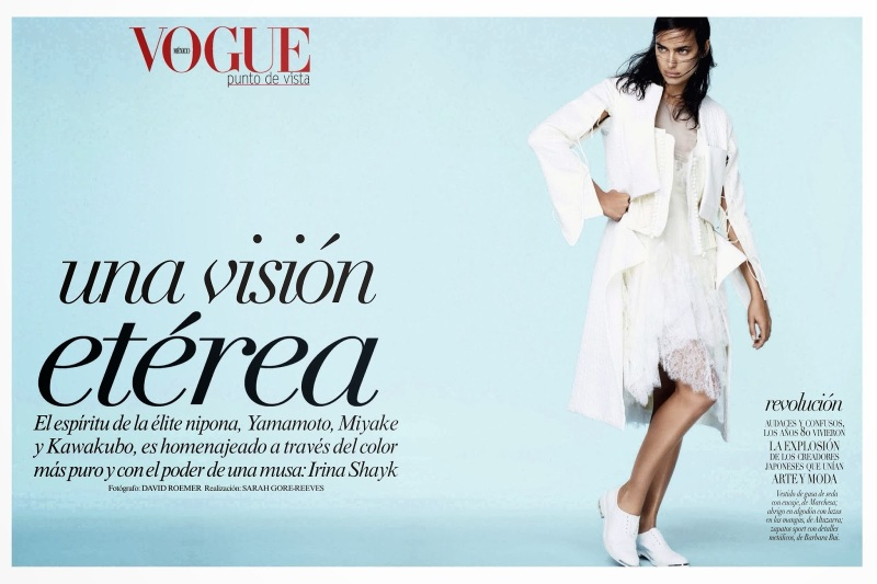 Irina Shayk for Vogue Mexico January 2014
