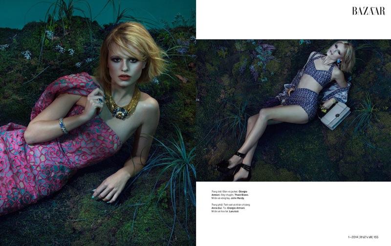 Bara Holotova for Harper's Bazaar Vietnam January 2014