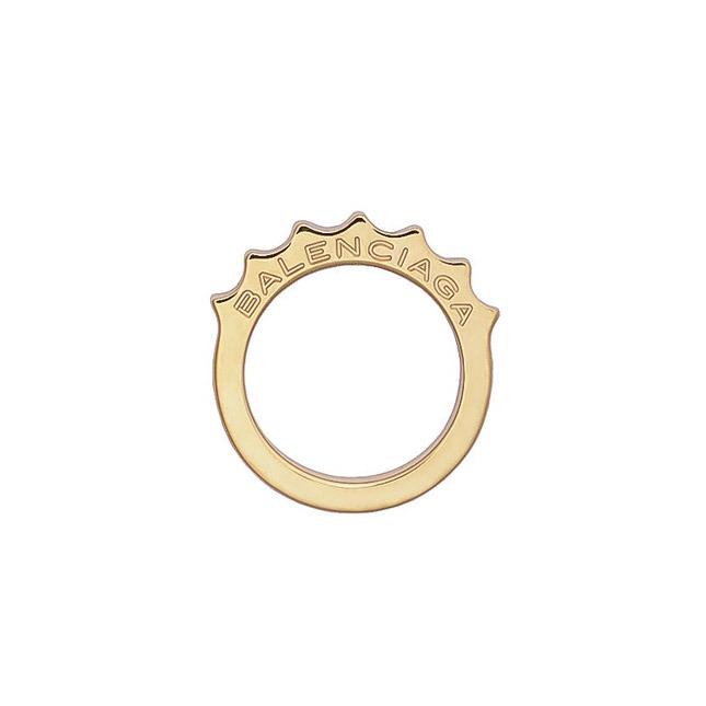 Gold ring Balenciaga