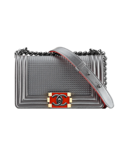 Embossed Metallic Lambskin Boy Chanel Flap Bag - $3,900.00